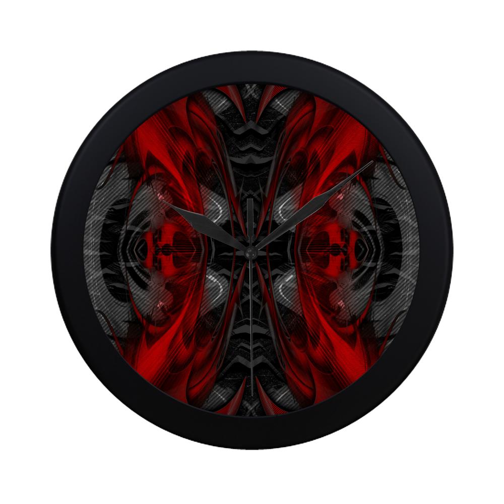 xxsml Red Rave Crew Circular Plastic Wall clock