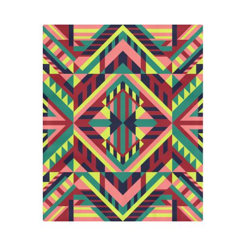 "Modern Geometric Pattern Duvet Cover 86""x70"" ( All-over-print)"