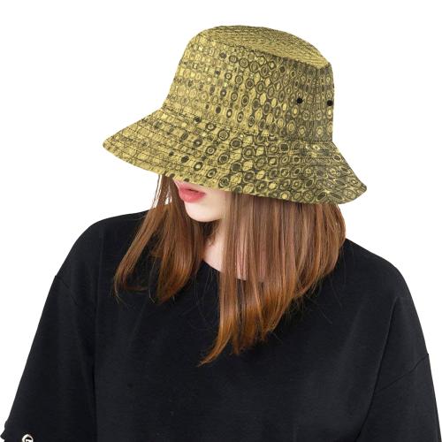GOLD TEXTURE BAROCK LADYLIKE II All Over Print Bucket Hat