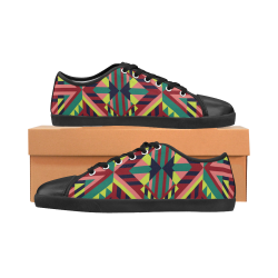Modern Geometric Pattern Canvas Kid's Shoes (Model 016)