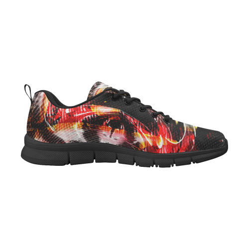 xxsml Red Rave Wild Men's Breathable Running Shoes/Large (Model 055)