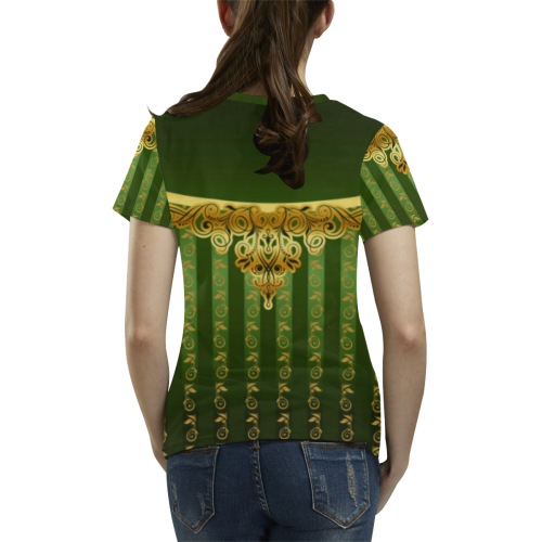 Coat of arms of Armenia All Over Print T-Shirt for Women (USA Size) (Model T40)