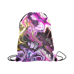 "Colorful Marble Design Large Drawstring Bag Model 1604 (Twin Sides)  16.5""(W) * 19.3""(H)"