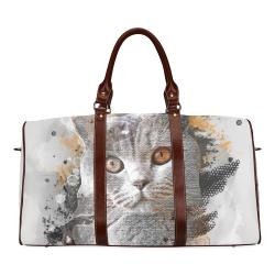 cat kitty art #cat #kitty Waterproof Travel Bag/Small (Model 1639)