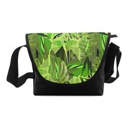Tropical Jungle Leaves Camouflage Crossbody Bag (Model 1631)