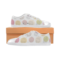 Colorful Cupcakes Canvas Shoes for Women/Large Size (Model 016)