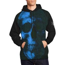 SKULL ART BLUE CRASSCO All Over Print Hoodie for Men/Large Size (USA Size) (Model H13)
