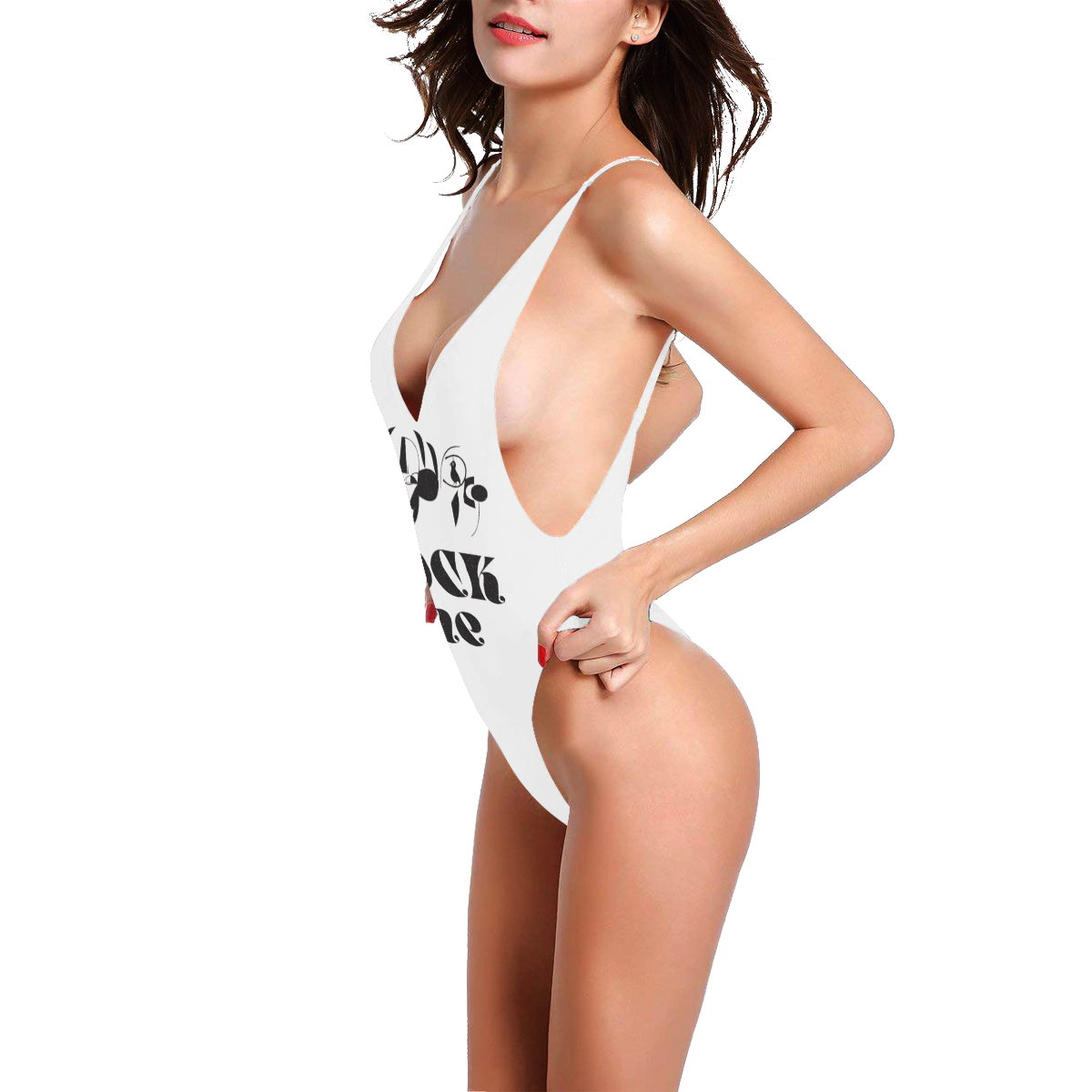 ROCK ME Sexy Low Back One-Piece Swimsuit (Model S09)