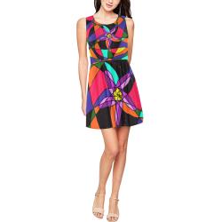 Abstract Design S 2020 Thea Sleeveless Skater Dress(Model D19)