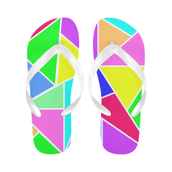 Abstract Colors Flip Flops for Men/Women (Model 040)