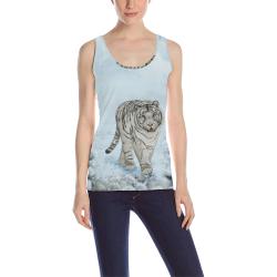 Wonderful siberian tiger All Over Print Tank Top for Women (Model T43)