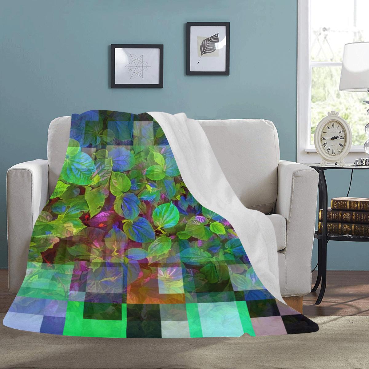 "Foliage Patchwork #10 - Jera Nour Ultra-Soft Micro Fleece Blanket 60""x80"""