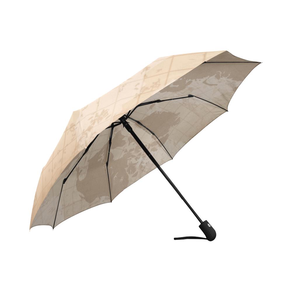 World Map Auto-Foldable Umbrella (Model U04)