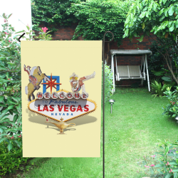Las Vegas Welcome Sign on Yellow Garden Flag 12''x18''(Without Flagpole)