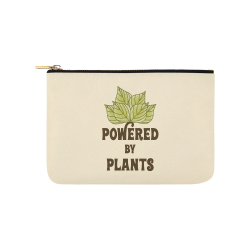 Powered by Plants (vegan) Carry-All Pouch 9.5''x6''