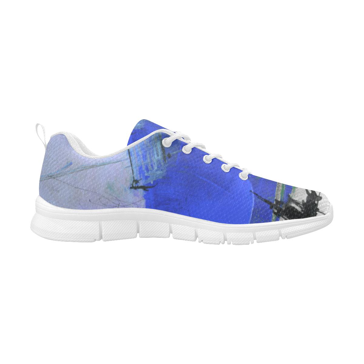 Lua Blue Women's Breathable Running Shoes (Model 055)