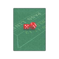 "Las Vegas Dice on Craps Table Blanket 50""x60"""