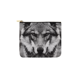 Wolf Animal Nature Carry-All Pouch 6''x5''