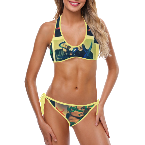 IS edit Custom Halter & Side Tie Bikini Swimsuit (Model S06)