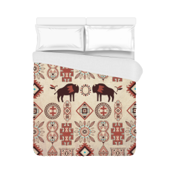 "American Native Buffalo Duvet Cover 86""x70"" ( All-over-print)"