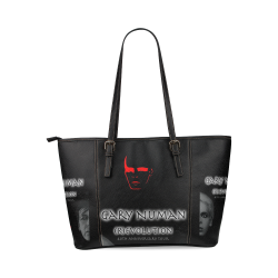 Gary Numan tote bag Leather Tote Bag/Large (Model 1640)