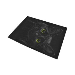 Black Cat Area Rug7'x5'