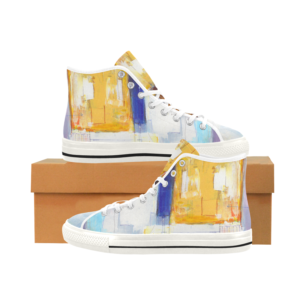 Stacked I yellow Vancouver H Men's Canvas Shoes (1013-1)