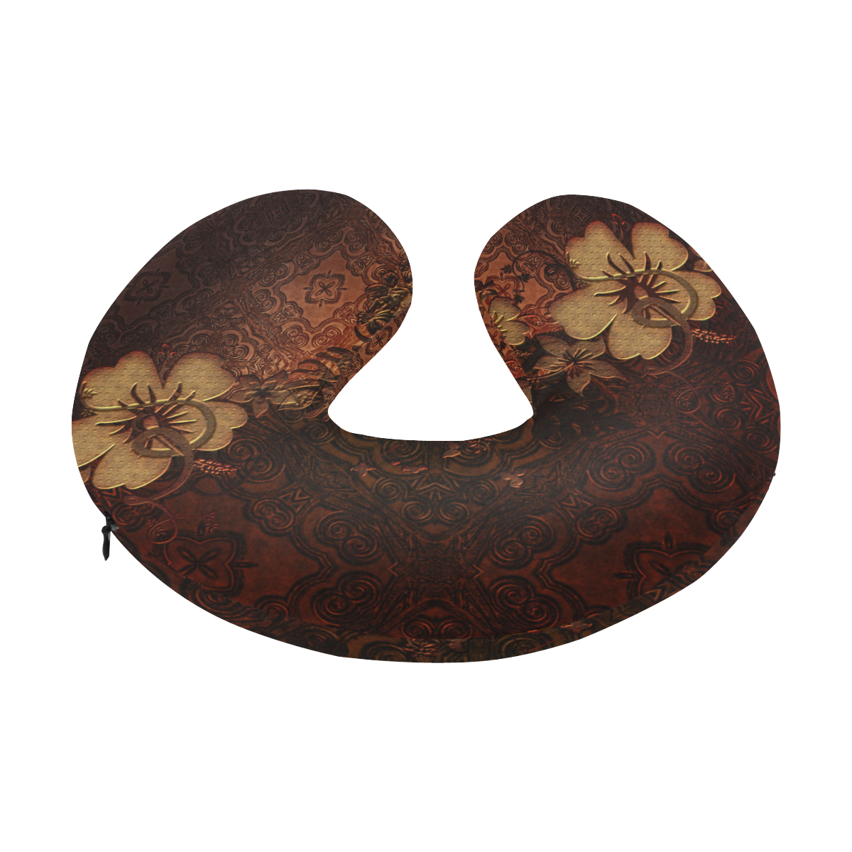 Floral design, vintage U-Shape Travel Pillow
