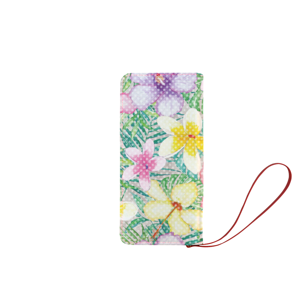 Hawaiian Flowers II Women's Clutch Wallet (Model 1637)