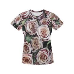 Impression Floral 9196 by JamColors All Over Print T-Shirt for Women (USA Size) (Model T40)