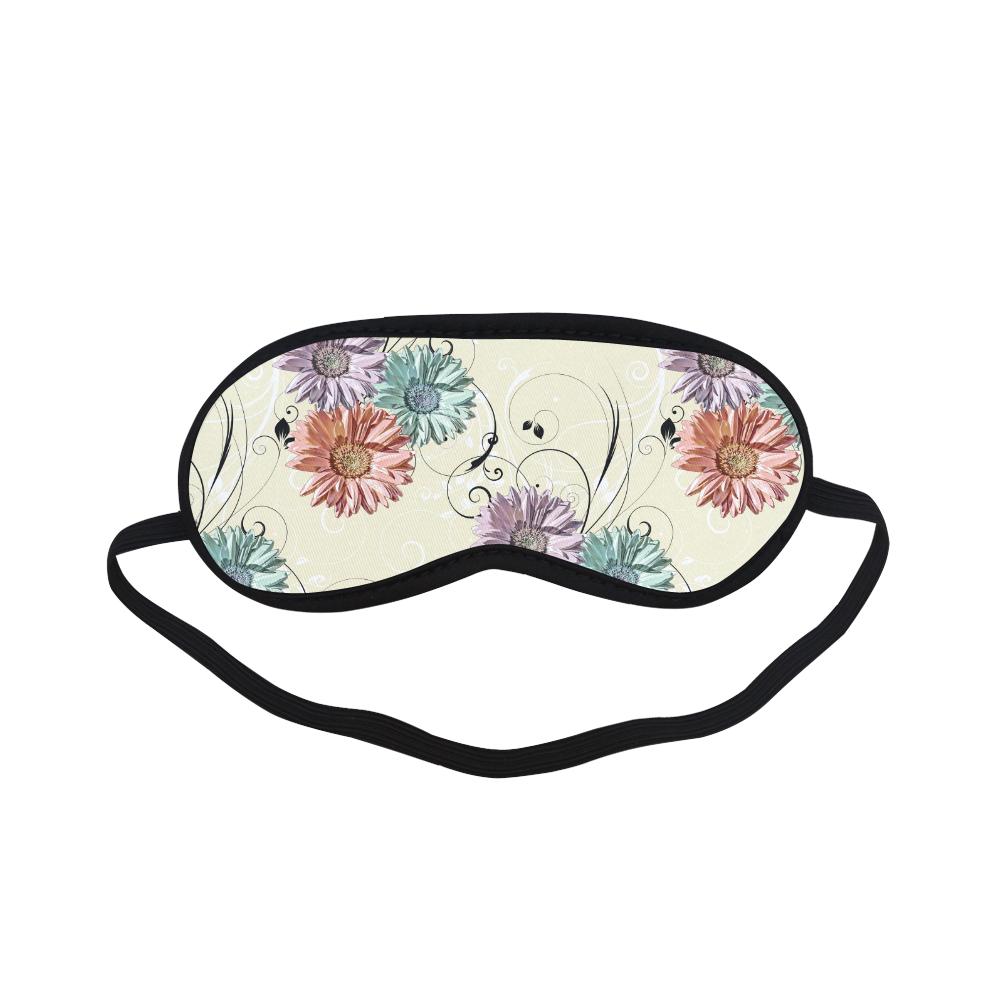 Flowers on Yellow Sleeping Mask