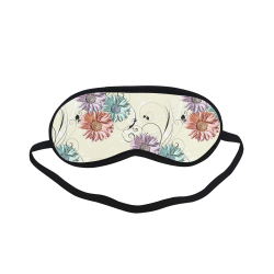 Flowers on Yellow Sleeping Mask