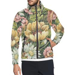 grandma;s comfy floral vintage abstract Unisex All Over Print Windbreaker (Model H23)