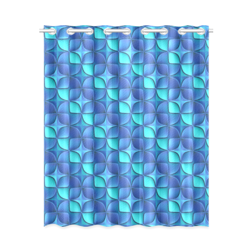 """Blue shades abstract New Window Curtain 52"""" x 63""""(One Piece)"""