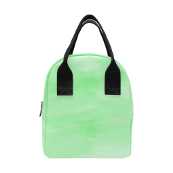 Mint Watercolor Insulated Zipper Lunch Bag (Model 1689)