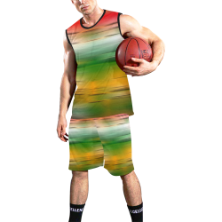 noisy gradient 3 by JamColors All Over Print Basketball Uniform