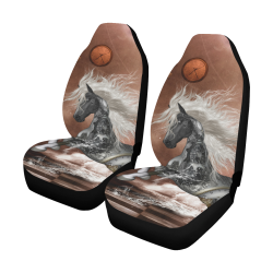 Amazing steampunk horse, silver Car Seat Covers (Set of 2)