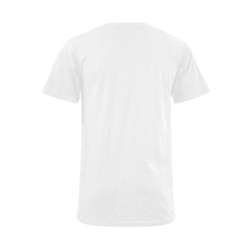 North America stamp Men's V-Neck T-shirt  Big Size(USA Size) (Model T10)