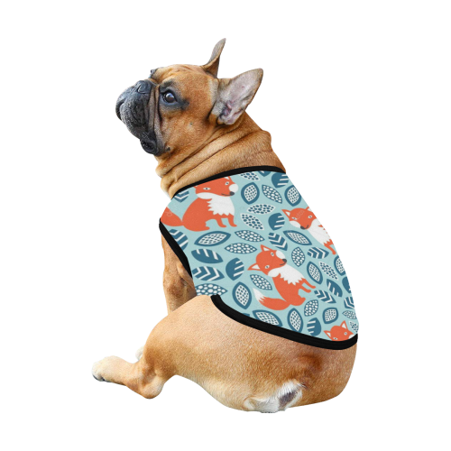 depositphotos_34456935-Cute-fox-seamless-pattern All Over Print Pet Tank Top