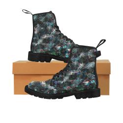 VanGogh Fur by Jera Nour Martin Boots for Women (Black) (Model 1203H)