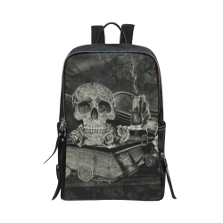 Steampunk Alchemist Mage Roses Celtic Skull old Unisex Slim Backpack (Model 1664)
