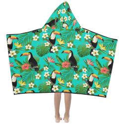 Tropical Summer Toucan Pattern Kids' Hooded Bath Towels
