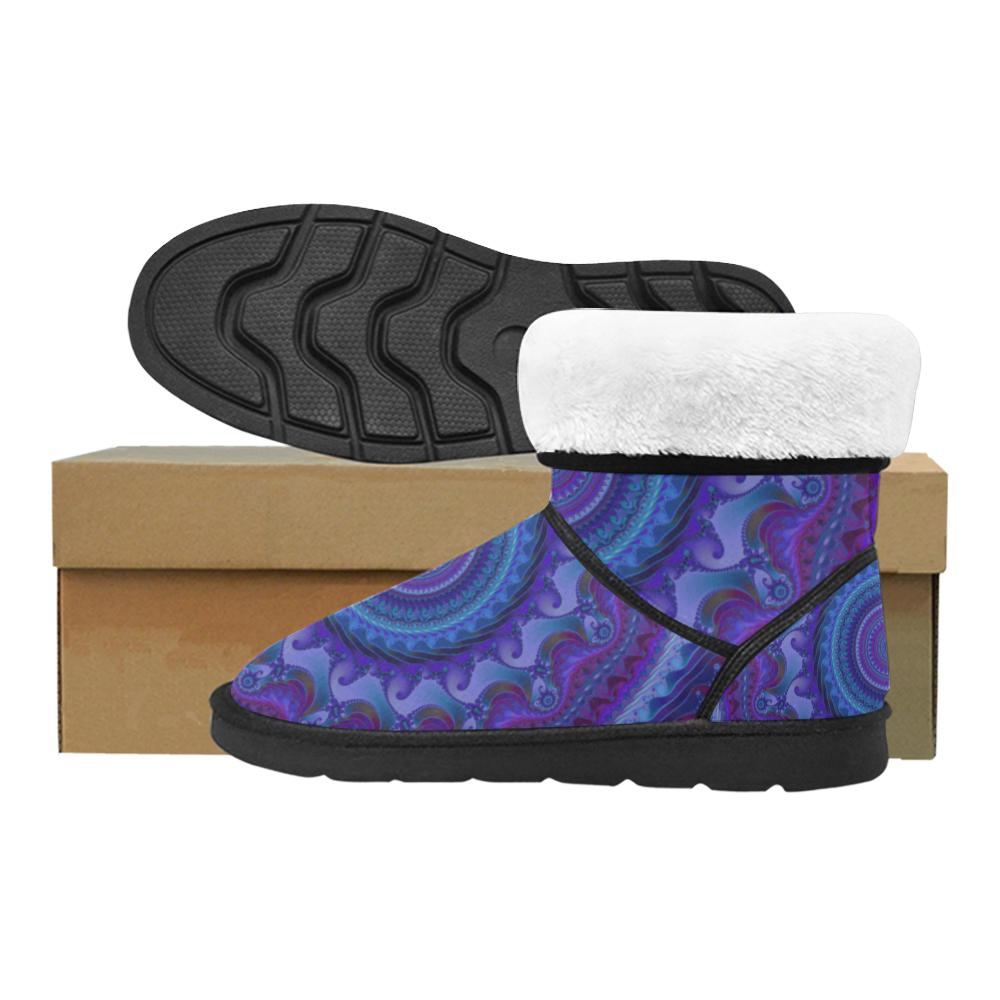 MANDALA PASSION OF LOVE Custom High Top Unisex Snow Boots (Model 047)