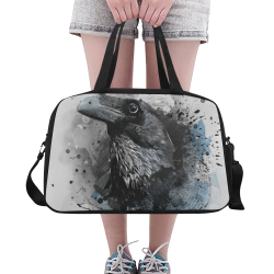 crow raven bird art #crow #raven Fitness Handbag (Model 1671)