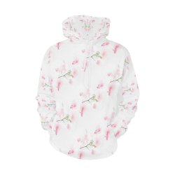 Pattern Orchidées All Over Print Hoodie for Women (USA Size) (Model H13)