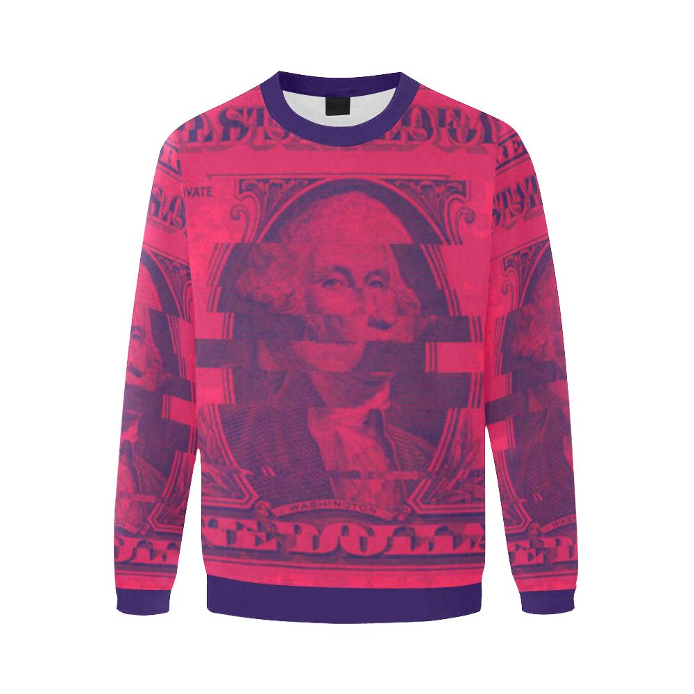 dollar Men's Oversized Fleece Crew Sweatshirt (Model H18)