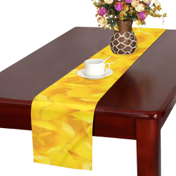 Tangerine Yellow Tulips Table Runner 14x72 inch