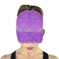 Hot Pink and Purple Abstract Branch Pattern All Over Print Dad Cap C (7-Pieces Customization)