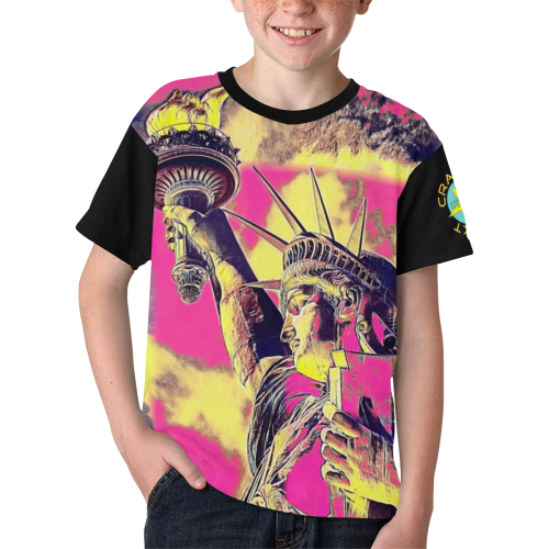 STATUE OF LIBERTY Kids' All Over Print T-shirt (Model T65)
