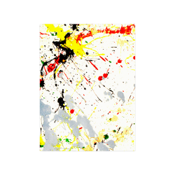 "Yellow & Black Paint Splatter Poster 18""x24"""